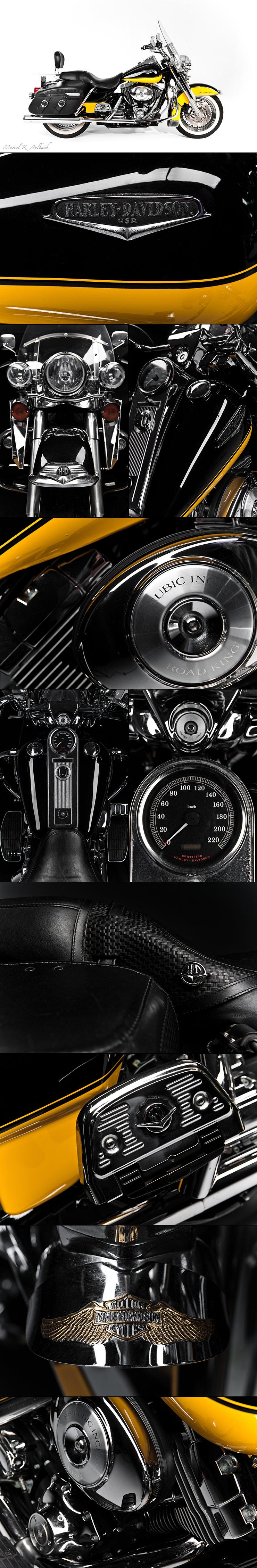 Harley Davidson, schwarz/gelb