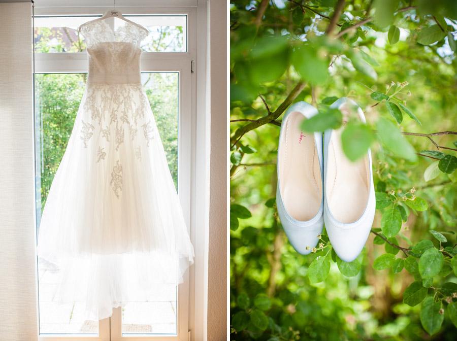 Kleid und Schuhe